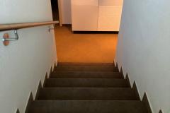 Teppich Boden und Teppichtreppe